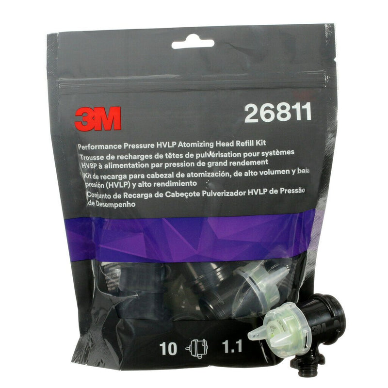 3M™ Performance Pressure Hvlp Atomizing Head Refill Kit Yellow 1.1 26811