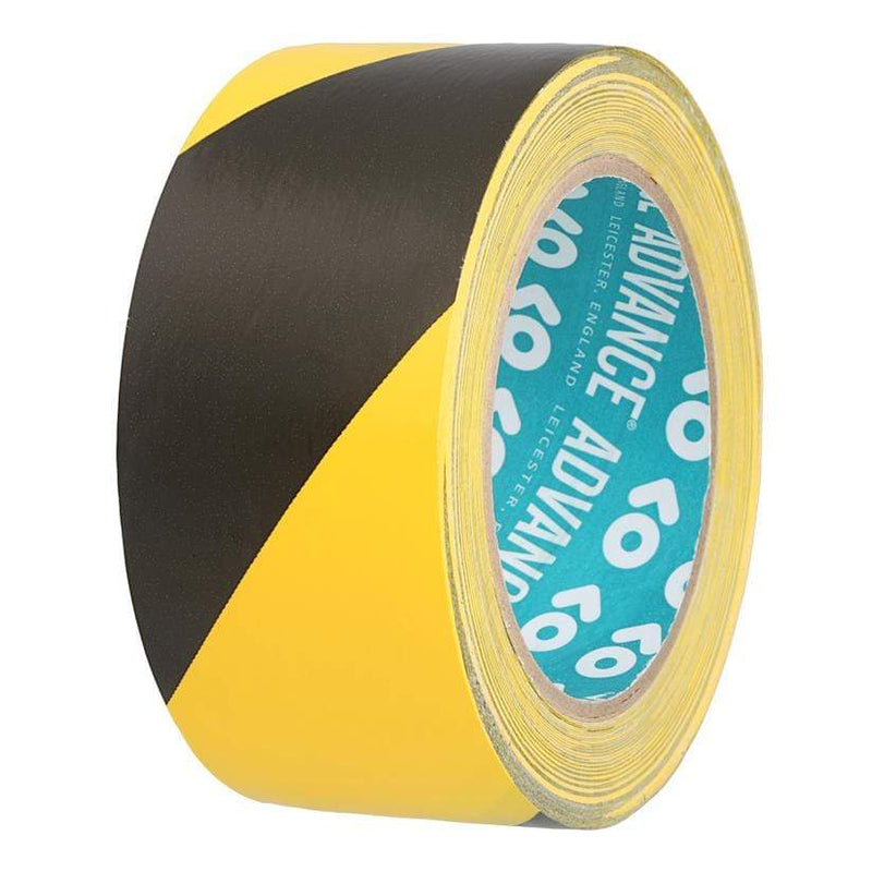 Advance AT8H Black and Yellow Floor Marking Tape 50mm x 33m | Advance | Floor Marking Tapes | Univar Specialty Consumables