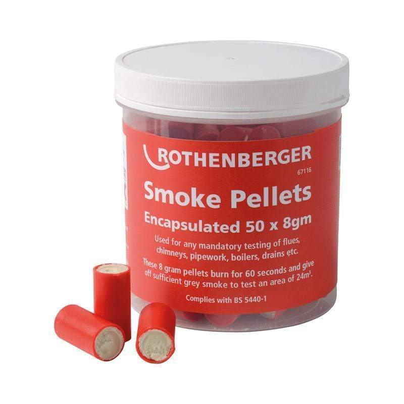 Rothenberger Encapsulated Smoke Pellets 8g (Pack of 50) | Rothenberger | Smoke Pellets | Univar Specialty Consumables
