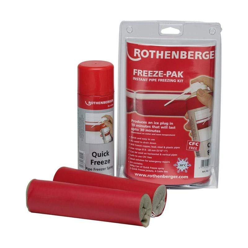 Rothenberger Freezing Tools Rothenberger pipe freeze kit 610904127