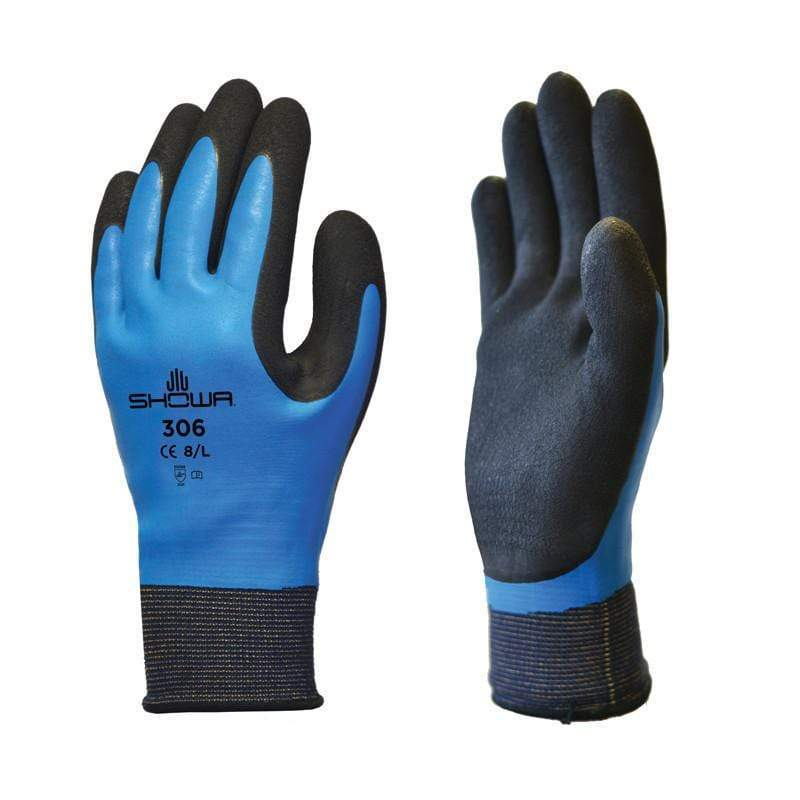Globus Abrasion Hazard Gloves Showa 306 Fully Coated Latex Grip Work Gloves 610408794