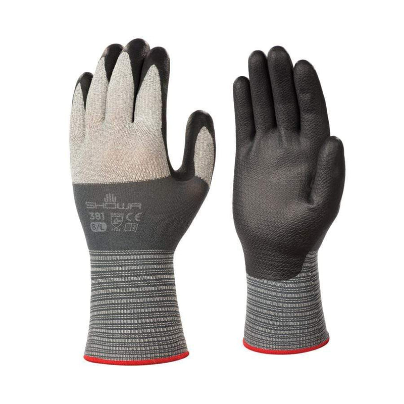 Showa 381 Foamed Nitrile Palm Work Gloves | Globus | Abrasion Hazard Gloves | Univar Specialty Consumables