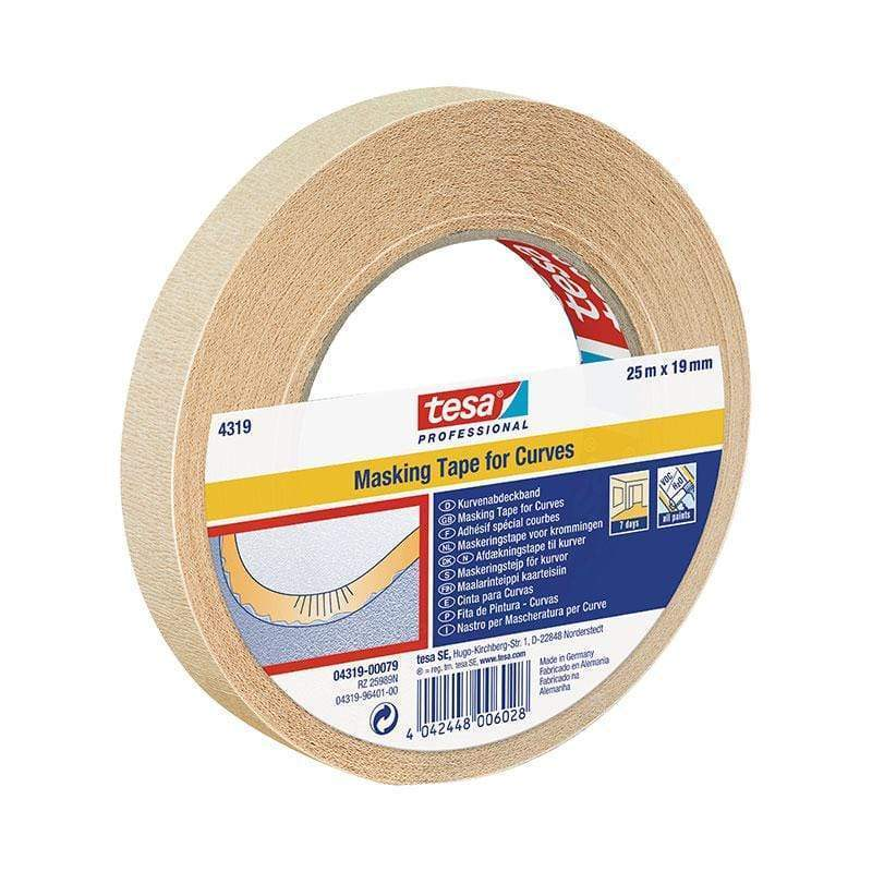 tesa 4319 Flexible Masking Tape 19mm X 25m | Tesa | Masking Tapes | Univar Specialty Consumables
