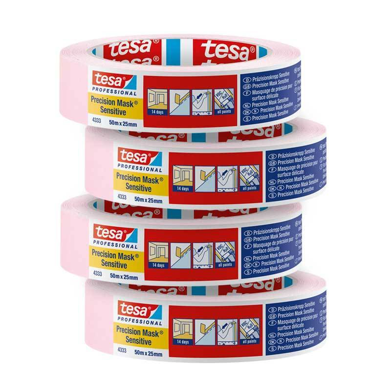 Tesa Masking Tapes tesa 4333 Sensitive Masking Tape Trade Bundle (Pack of 4) 610996006