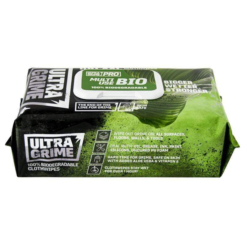 UltraGrime Pro XXL Biodegradble (Pack of 100) | Cleaning Wipes | Uniwipe