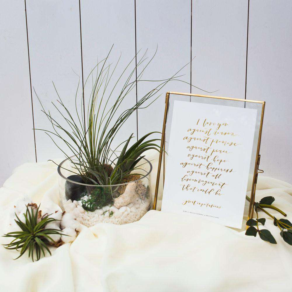 I Love You Against All | Gold-foiled Print - hello flowers!
