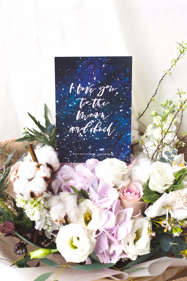 To the Moon | Postcard - hello flowers!