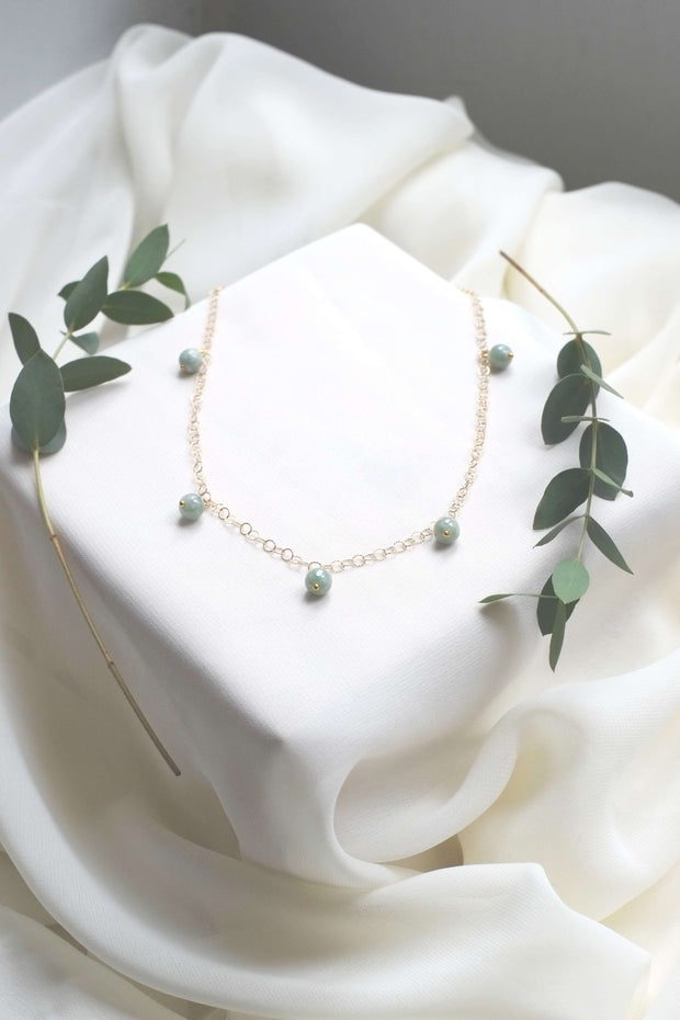 Jadeite Necklace - hello flowers!