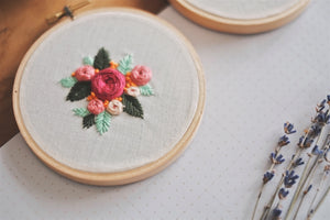 Petite Floral Garden Embroidery Hoop | by A X Ally Crafts Co - helloflowerssg