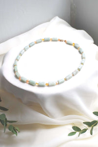 Jadeite and Opal Necklace - helloflowerssg