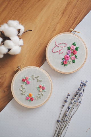 Petite Floral Embroidery Hoop | by A X Ally Crafts Co - helloflowerssg