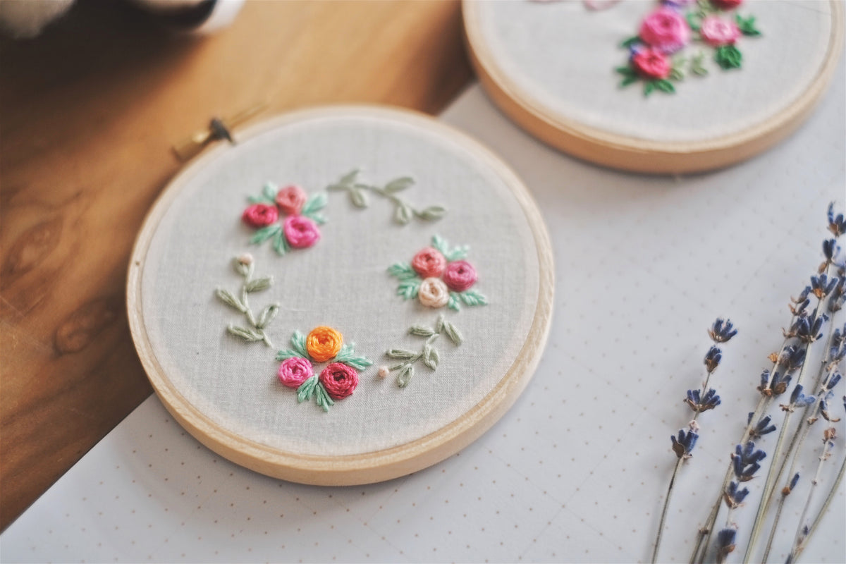 Petite Floral Embroidery Hoop | by A X Ally Crafts Co - hello flowers!