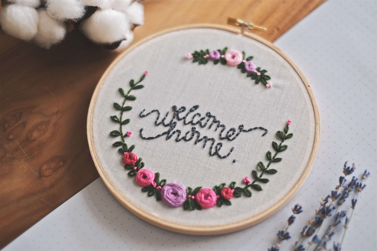 'welcome home' Embroidery Hoop | by A