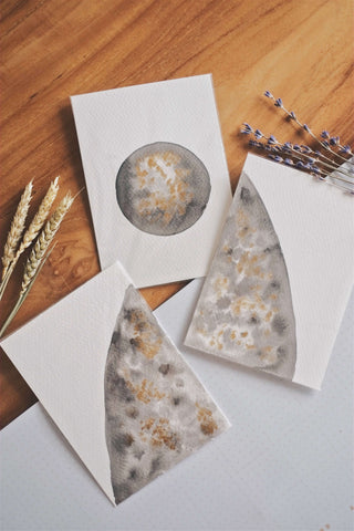 Moon I (Set of 3 Cards) | by L - helloflowerssg