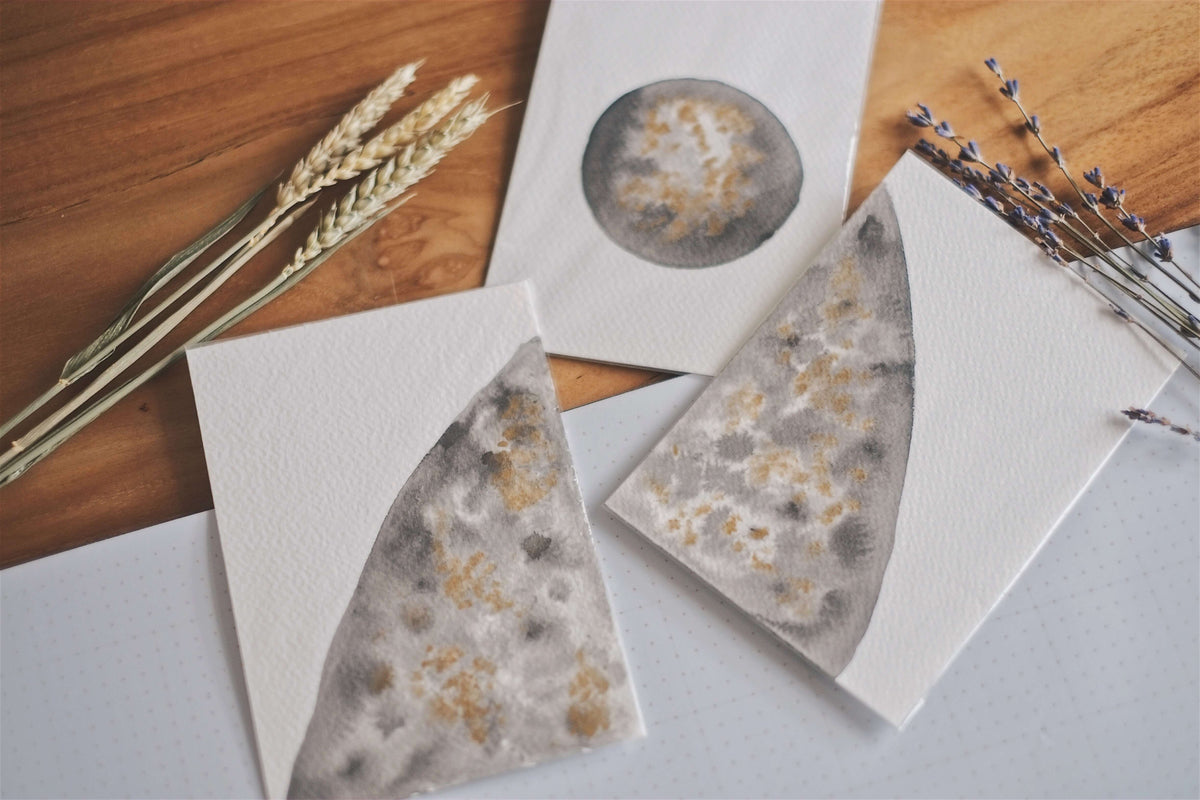 Moon I (Set of 3 Cards) | by L - hello flowers!