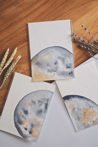 Once in a Blue Moon (Set of 3 Cards) | by L - hello flowers!