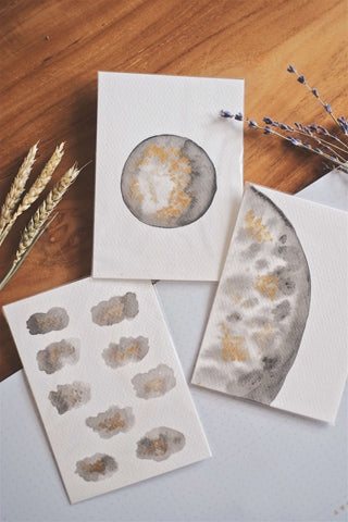 Moon II (Set of 3 Cards) | by L - helloflowerssg