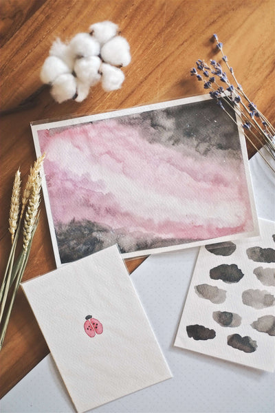 A Sky Full of Pink (Set of 3 Cards) | by L - helloflowerssg