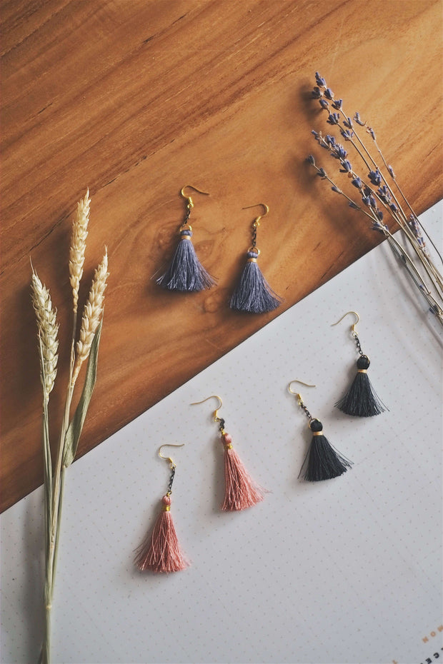 Drop Tassel Earrings | by X - hello flowers!