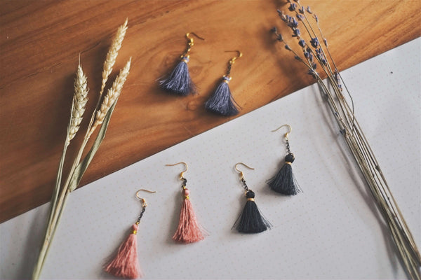 Drop Tassel Earrings | by X - helloflowerssg