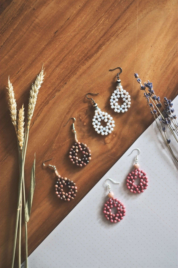 Beaded Loop Earrings | by X - hello flowers!