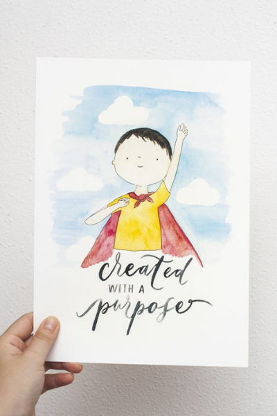Created With A Purpose | PRINT by Kristen Kiong - hello flowers!