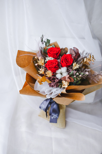 Valentine's 21 | Cherry (Preserved & Everlasting Bouquet in Red)