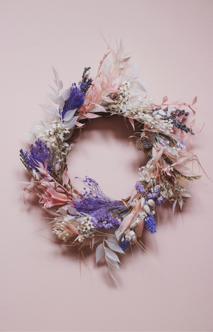 Christmas' 20 | Calming Purple - Dried and Preserved Floral Wreath