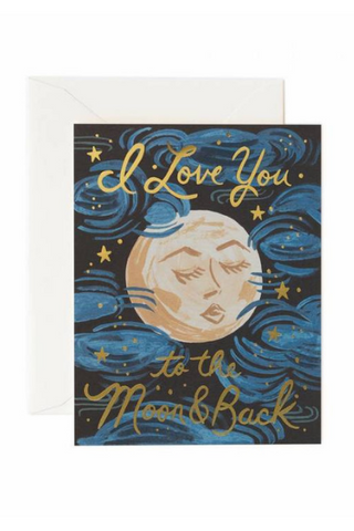 To The Moon And Back | Greeting Card by Rifle Paper Co. - helloflowerssg