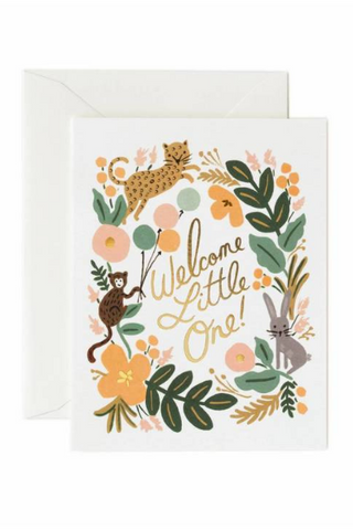 Menagerie Baby - Welcome Little One | Greeting Card by Rifle Paper Co. - helloflowerssg