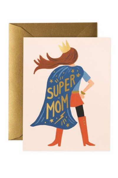 Supermom Greeting Card by Rifle Paper Co. - hello flowers!