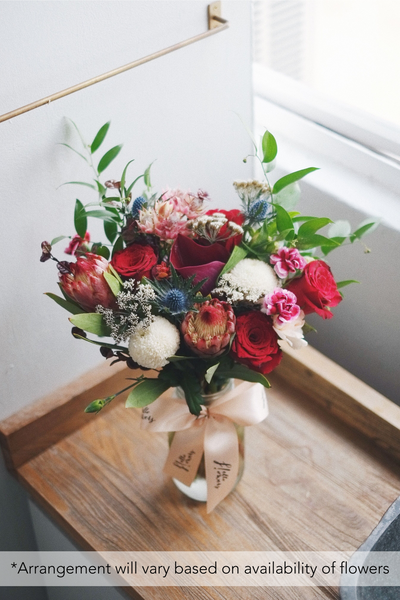 Medium Jar - Seasonal Subscription Flowers - helloflowerssg