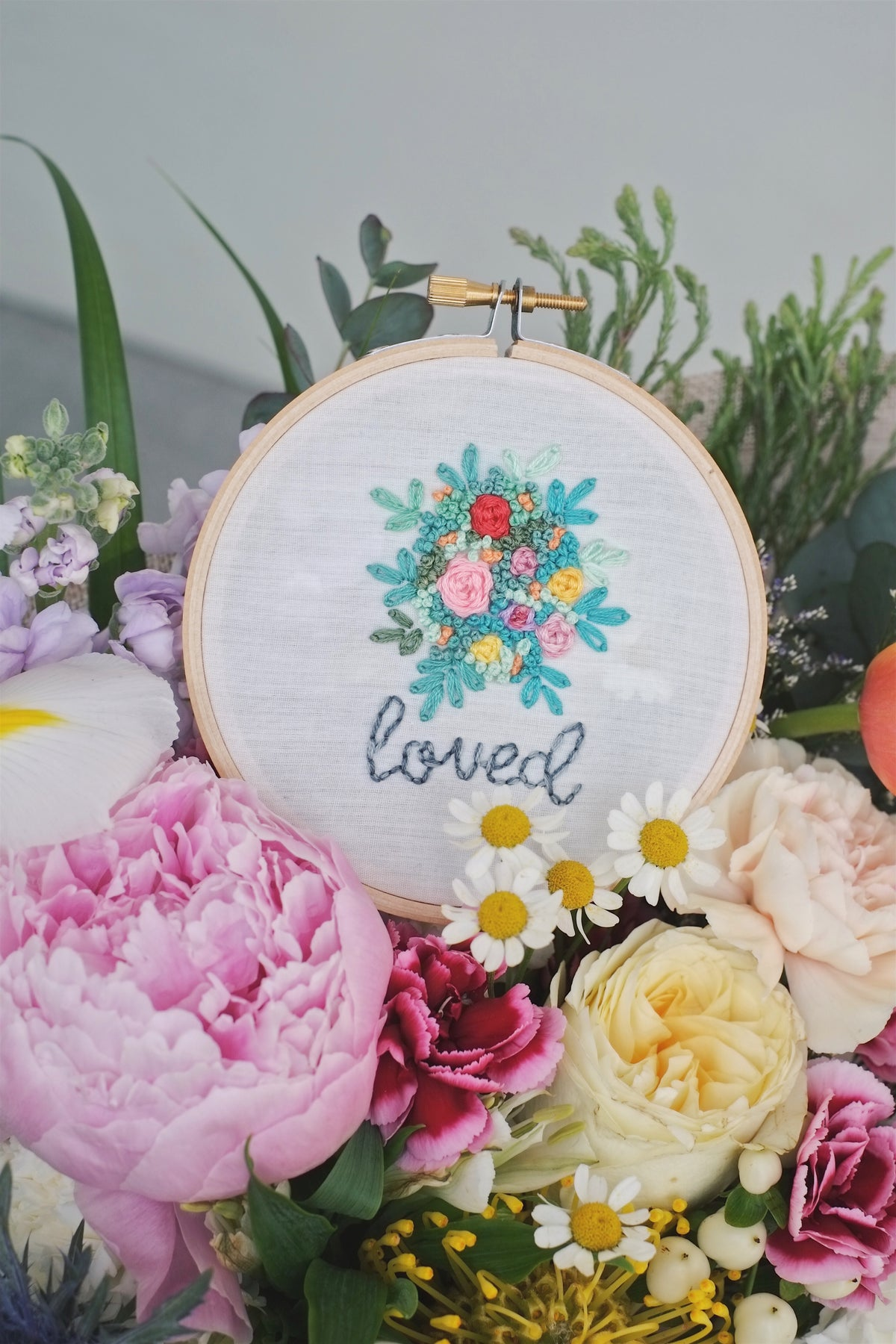 Embroidery hoops by allycraftsco - hello flowers!