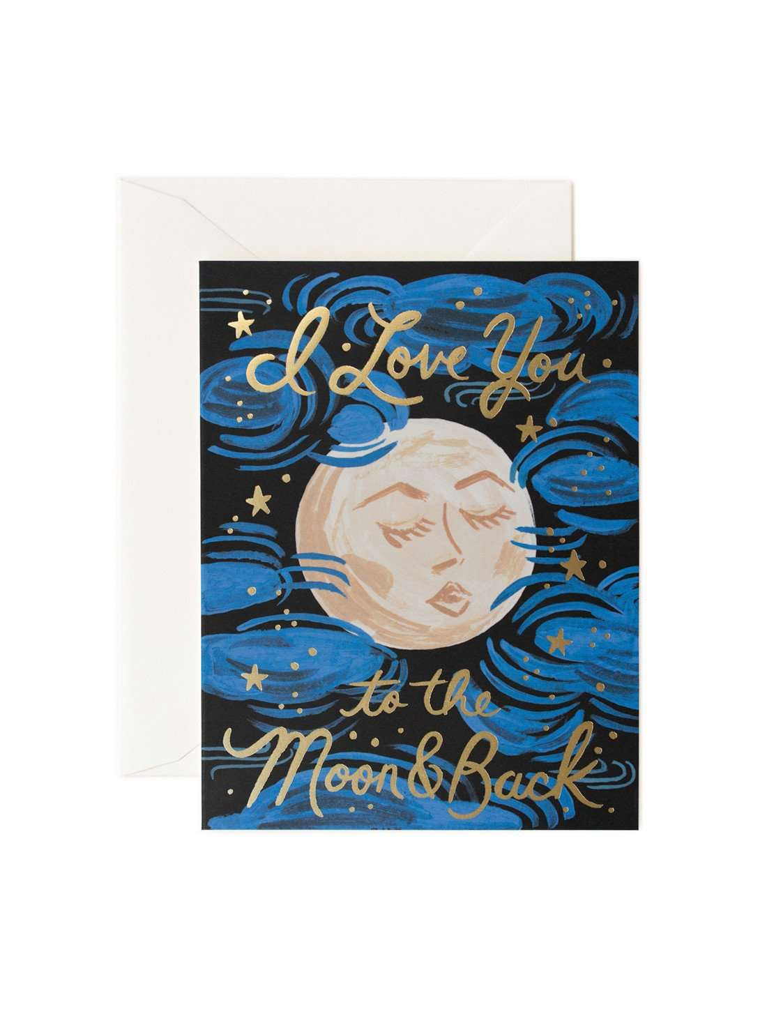 """I Love You to the Moon and Back"" Greeting Card by Rifle Paper Co."