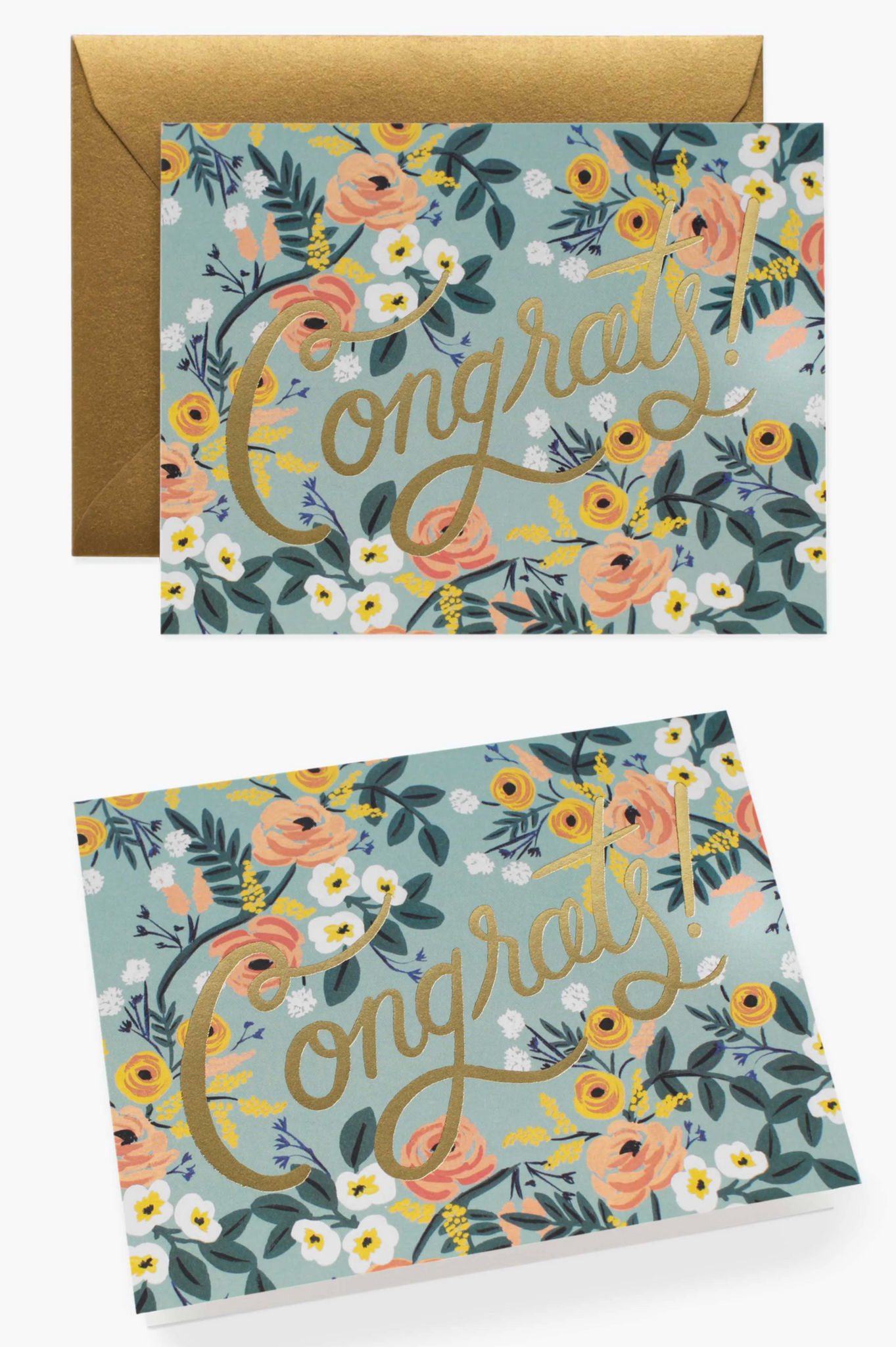 """Blue Meadow Congrats"" Greeting Card by Rifle Paper Co."