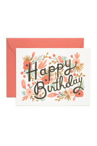"""Floral Burst Birthday"" Greeting Card by Rifle Paper Co."