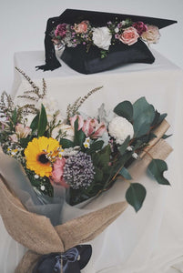 Graduation | Bundle: Wildflower Crown + Small Hand-Tied Bouquet - hello flowers!