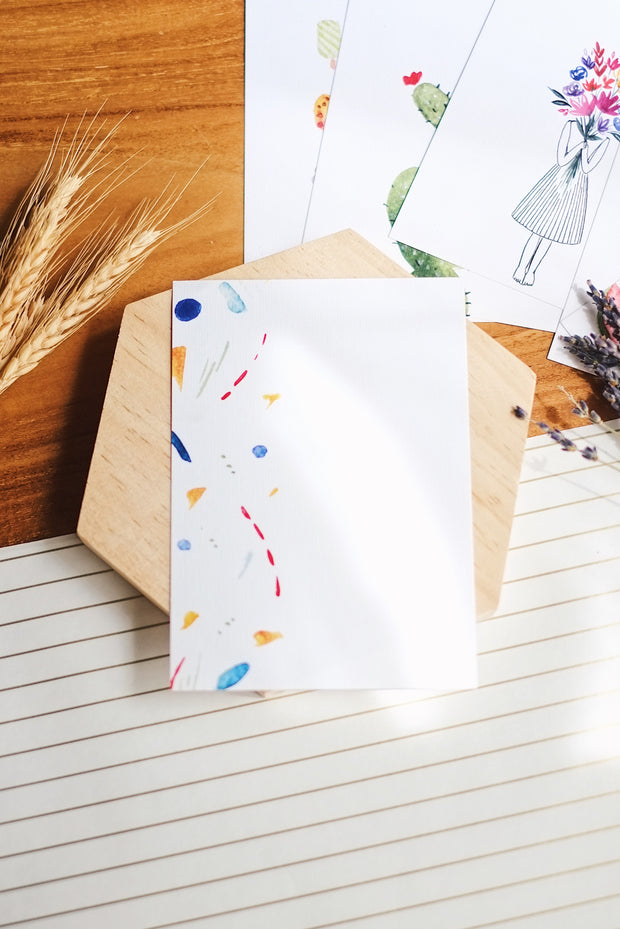 Watercolour Shapes | Postcard by L - hello flowers!