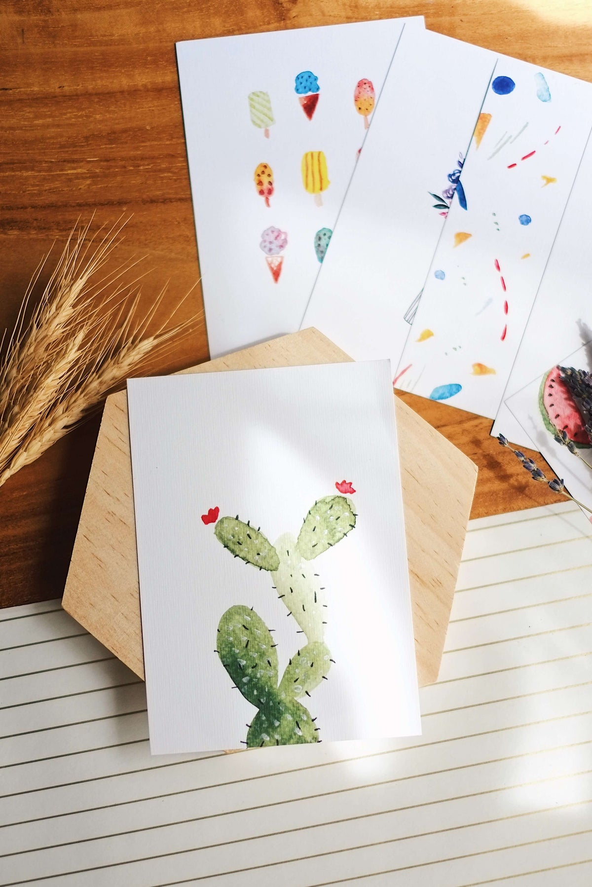 Succulent Love | Postcard by L - hello flowers!