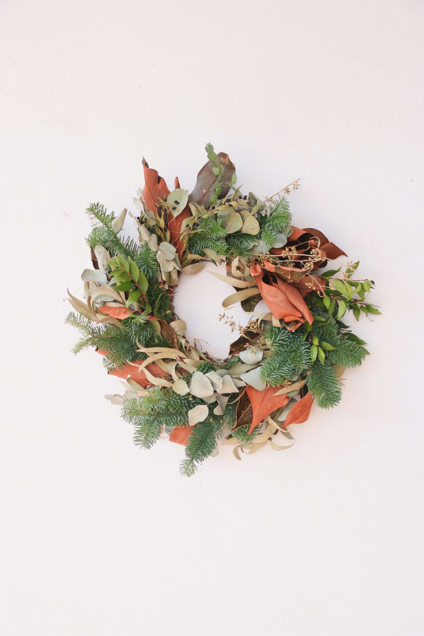 Christmas'19 | Fresh Magnolia & Foliage Christmas Wreath