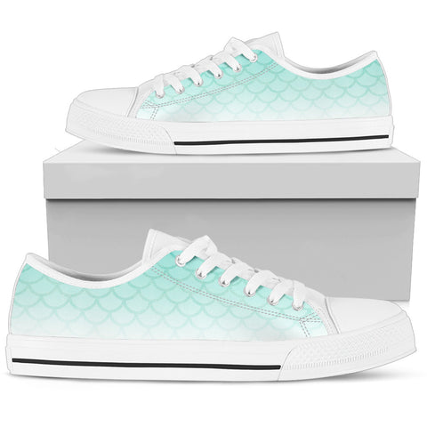 Mermaid Teal Women's Low Top Shoe