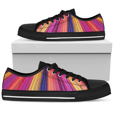Rainbow Delight - Women's Low Top Shoes - Black Sole