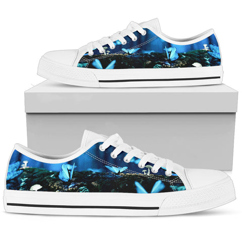 Women's Low Tops Butterflies (White Sole)