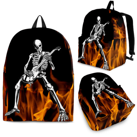 GUITAR PLAYING SKULL BACKPACK