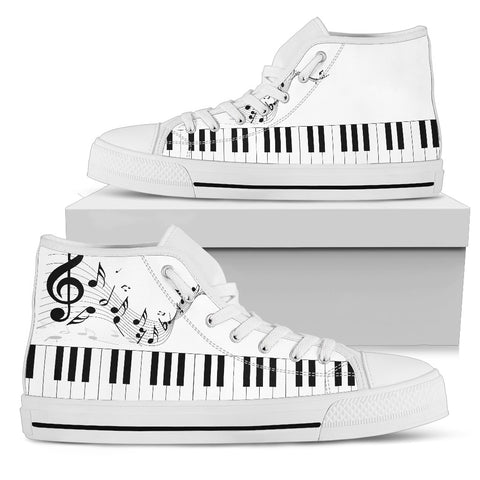 Music Lovers High Top White