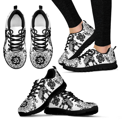 Elephant Black and White Women's Sneakers