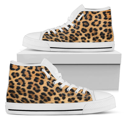 Leopard Fur Print Womens High Tops