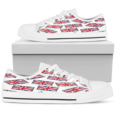 GREAT BRITAIN'S PRIDE! GREAT BRITAIN'S FLAGSHOE - Men's Low Top (white bg)