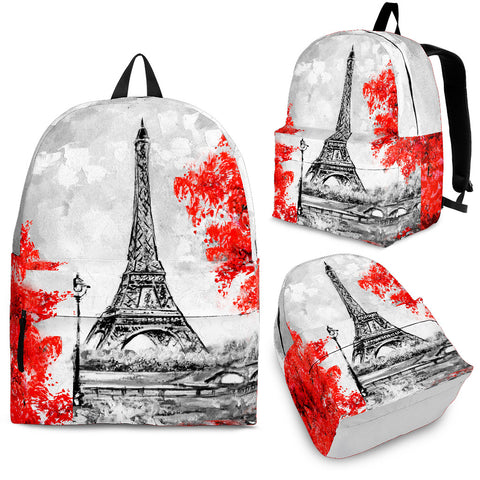 Paris in Red Backpack
