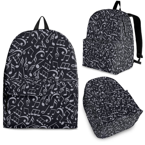 Back Pack Music Note Black